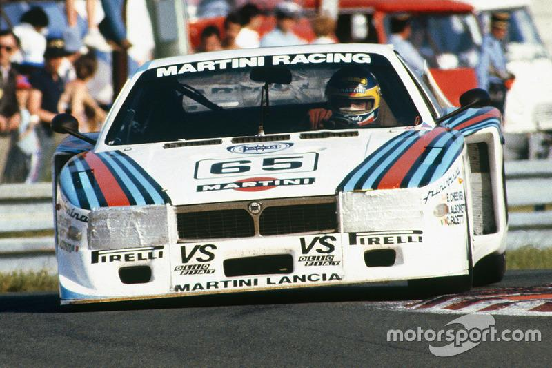 "The Lancia Beta Montecarlo Turbo of Alboreto, Cheever and Facetti heads for second in class at Le Mans in 1981. <span class=""copyright"">Motorsport Images</span>"
