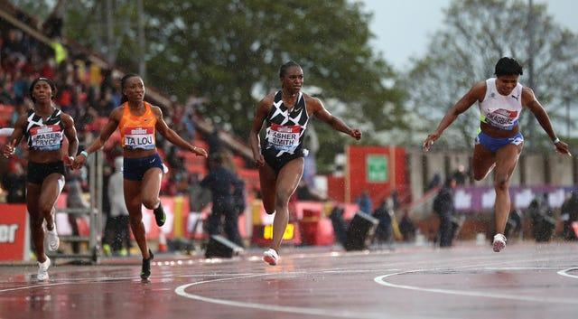 Dina Asher-Smith did seal a spot on the plane to next month's Olympic Games with a season's best time to win the women's 100 metres at the FBK Games in Hengelo