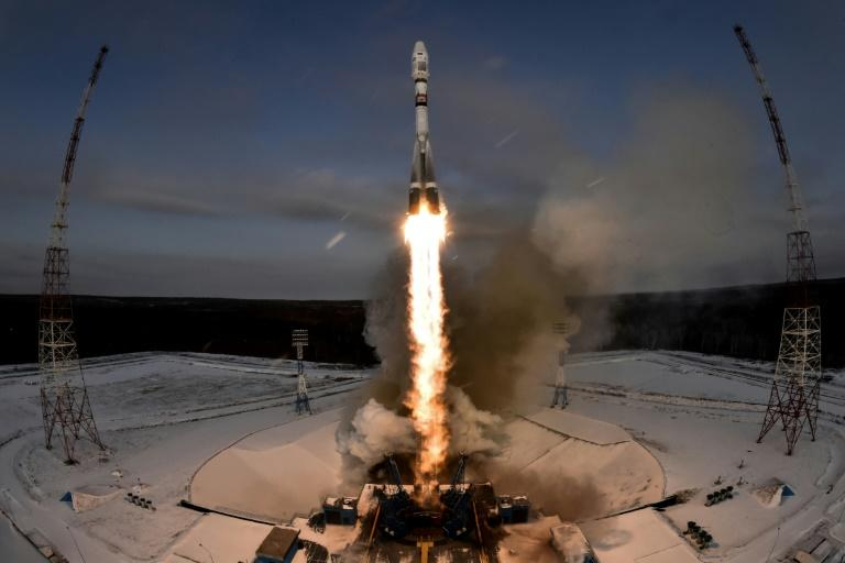 The Soyuz-2.1b rocket carrying the Meteor-M 2-1 weather satellite lifting off from the  Vostochny cosmodrome on November 28. The mission failed within hours