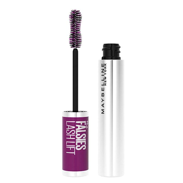 """""""Something about the combination of the Maybelline New York's The Falsies Lash Lift's hourglass-shaped wand and lightweight, not-too-wet formula replaces the need for a lash curler, extensions, and falsies. After sweeping it through, my lashes are instantly lifted upward and volumized like a lash enhancement. The dip in the middle of the brush also makes adding mascara to your lashes as mess-free as possible."""" — <em>Devon Abelman, digital beauty editor</em>"""