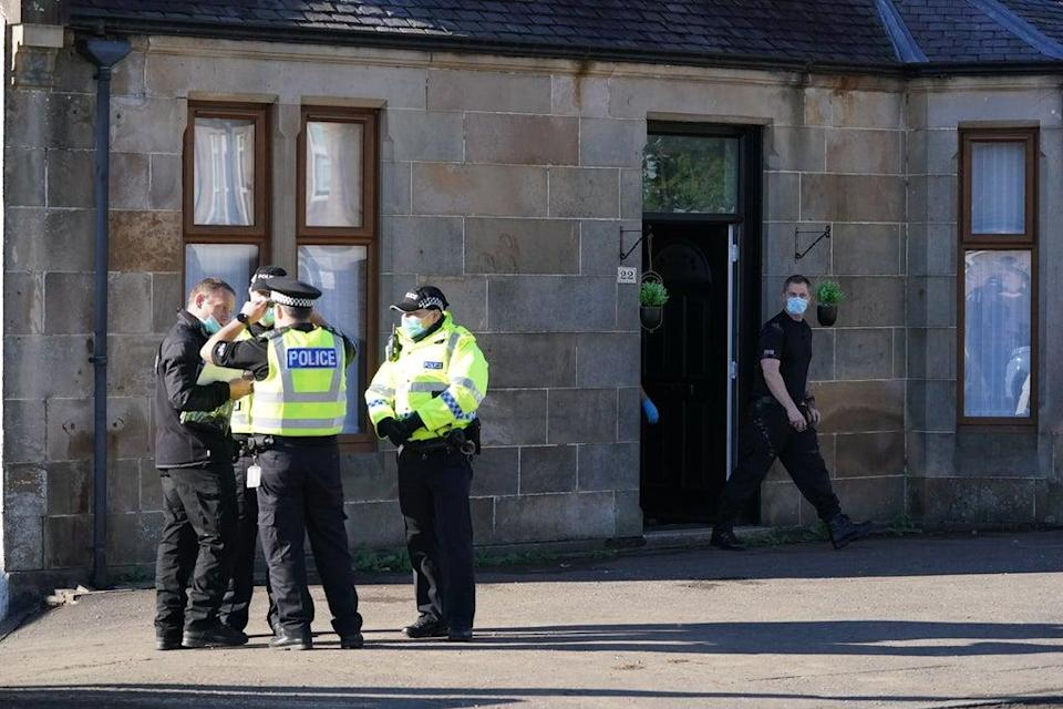 Police searched Carson's grandmother's home in New Cumnock (Andrew Milligan/PA) (PA Wire)