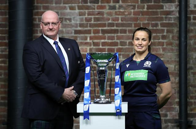 Scotland head coach Philip Doyle and captain Rachel Malcolm (Credit: Action Images via Reuters/Peter Cziborra)