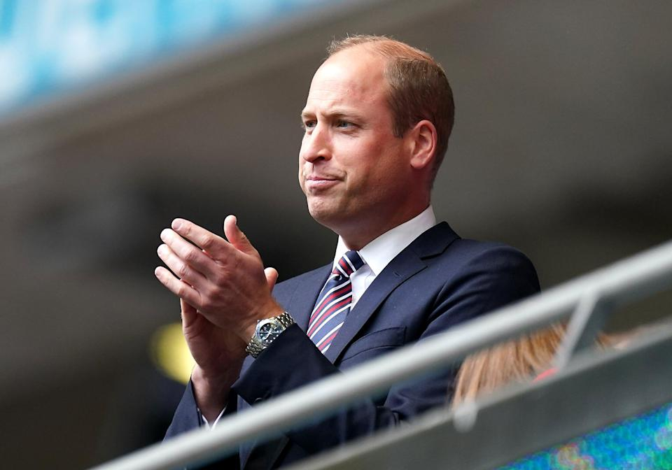 The Duke of Cambridge will be at Wembley for the Euros final on Sunday (Mike Egerton/PA) (PA Wire)