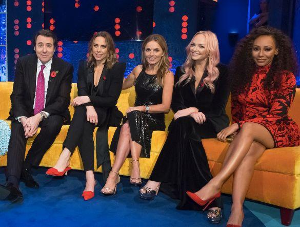 Jonathan Ross with the Spice Girls (Photo: ITV)