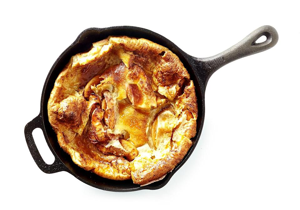 """For moms with signature apple pie recipes. <a href=""""https://www.bonappetit.com/recipe/apple-dutch-baby?mbid=synd_yahoo_rss"""" rel=""""nofollow noopener"""" target=""""_blank"""" data-ylk=""""slk:See recipe."""" class=""""link rapid-noclick-resp"""">See recipe.</a>"""