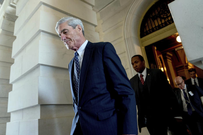 Robert Mueller, the special counsel probing Russian interference in the 2016 election, departs Capitol Hill following a closed-door meeting in Washington, June 21, 2017. (Photo: Andrew Harnik/AP)