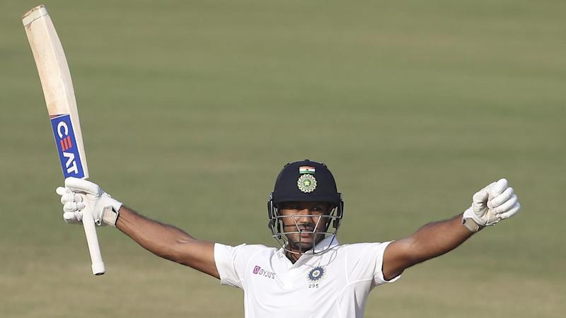 Mayank Agarwal complied the second double century of his eight-Test career against Bangladesh