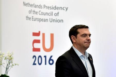 Greece's Prime Minister Alexis Tsipras leaves after the EU Summit in Brussels, Belgium, June 29, 2016. REUTERS/Eric Vidal