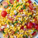 """<p>The festive colors of this salad just scream outdoors summer get-together, making it the prefect option for a 4th of July spread.</p><p><em><em><strong>Get the recipe at </strong></em></em><em><strong><a href=""""https://www.delish.com/cooking/recipe-ideas/a19695472/easy-fresh-corn-salad-recipe/"""" rel=""""nofollow noopener"""" target=""""_blank"""" data-ylk=""""slk:Delish."""" class=""""link rapid-noclick-resp"""">Delish.</a></strong></em></p>"""