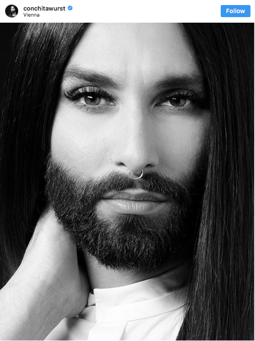 Conchita Wurst confessed to her fans that she's HIV-positive. Source: Instagram/conchitawurst