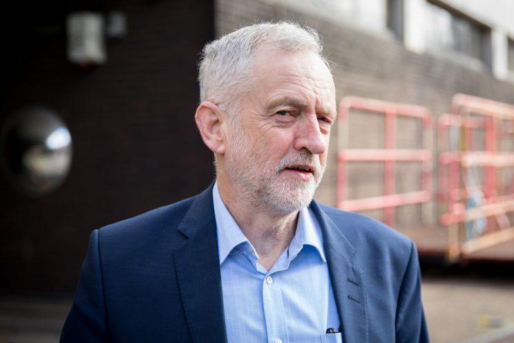 Corbyn's Labour is 21 points behind the Conservatives according to a recent poll (Rex)