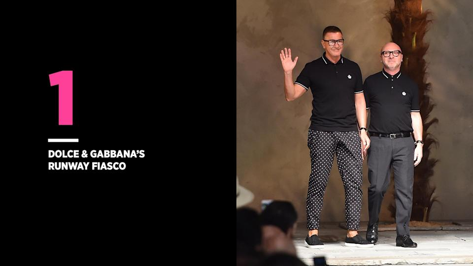 Dolce & Gabbana's promotional videos were under fire for mocking Chinese culture. (Photo: Getty Images)