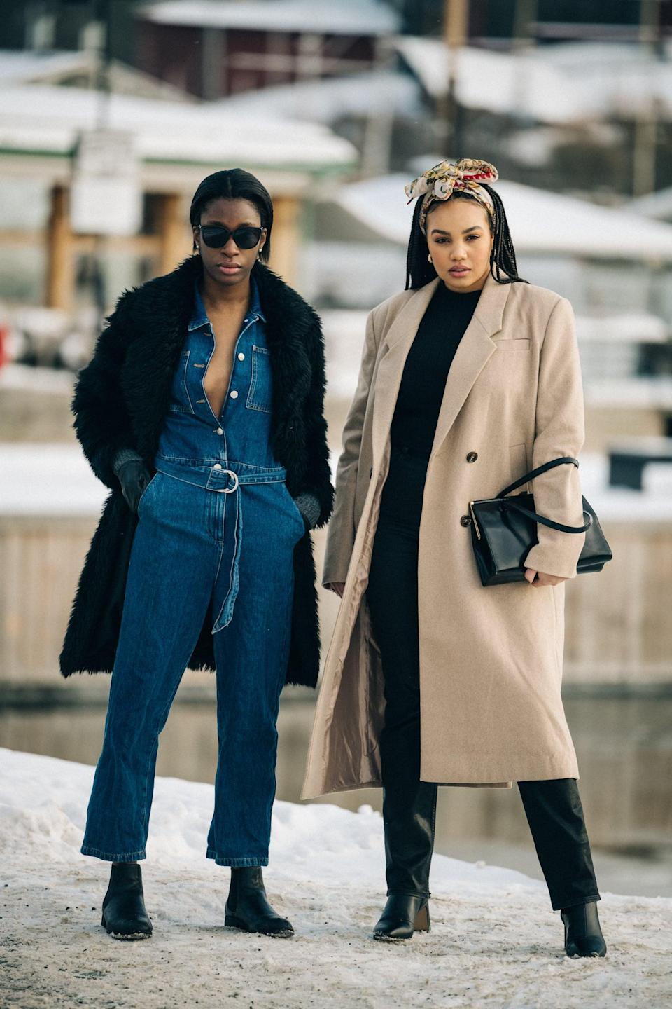 <p>Always play with textures - think: denim with a furry coat and dark-wash waxed jeans with a neutral wool. It's all about mixing and matching for achieving that multidimensional look.</p>