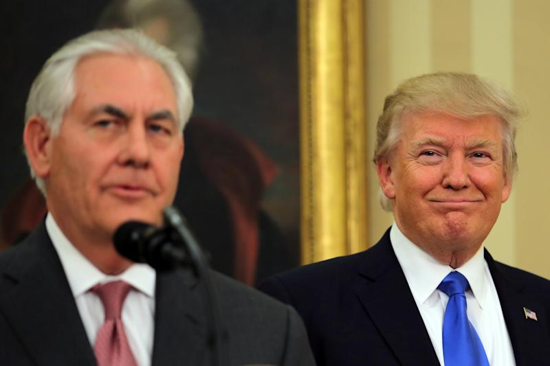 President Donald Trump said he would surpass Secretary of State Rex Tillerson in an IQ test, if Tillerson really called him a moron.