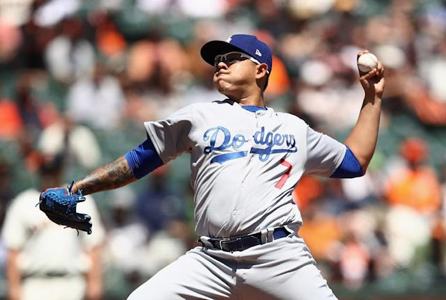 Los Angeles Dodgers pitcher Julio Urias has been reinstated following his arrest for domestic violence (AFP Photo/EZRA SHAW)