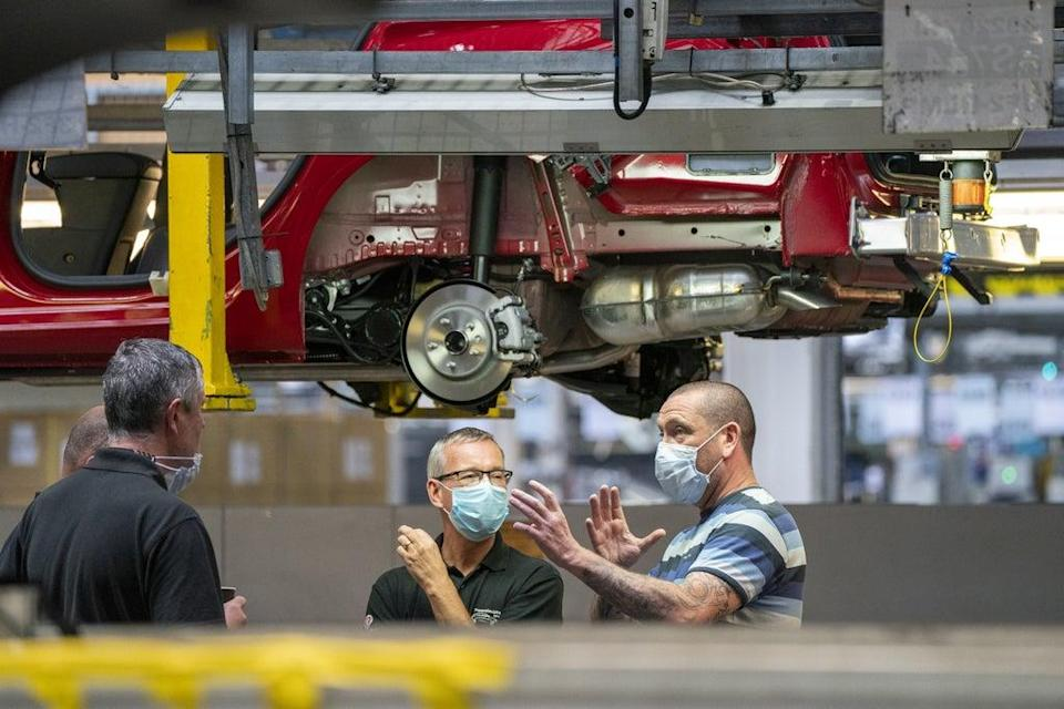 Manufacturing firms have reported that stock levels have hit record lows as overall sector activity slowed (Peter Byrne/PA) (PA Wire)