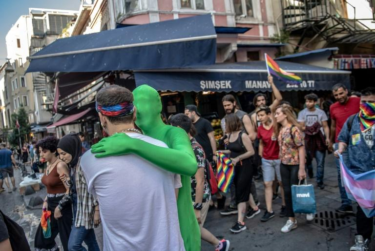 Although homosexuality has been legal throughout the period of the modern Turkish republic, LGBTI individuals point to regular harassment and abuse. (AFP Photo/BULENT KILIC)