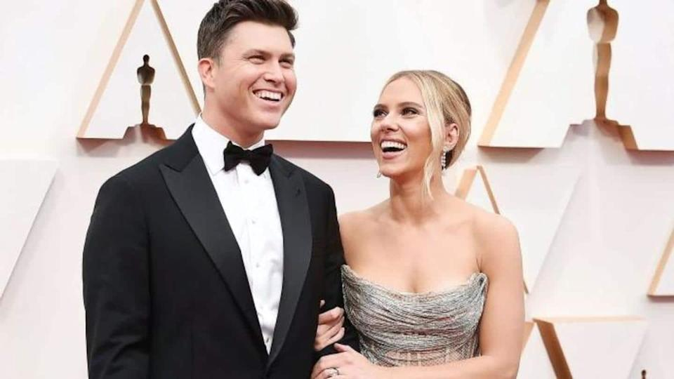 Just married! Scarlett Johansson ties the knot with Colin Jost