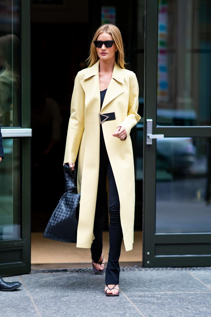 Rosie Huntington-Whiteley shows sunny spring colors don't have to look saccharine.