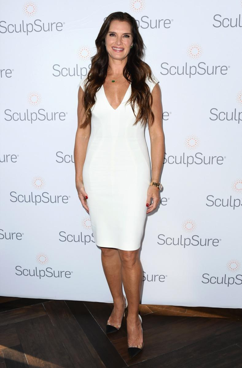 LOS ANGELES, CALIFORNIA - APRIL 23:  Brooke Shields attends Brooke Shields Announced As SculpSure Body Contouring Celebrity Spokesperson at Four Seasons Los Angeles at Beverly Hills on April 23, 2019 in Los Angeles, California. (Photo by Jon Kopaloff/Getty Images)