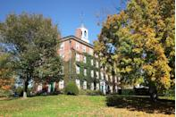 """<p><strong>Established in 1793 </strong></p><p><strong>Location: Williamstown, Massachusetts <br></strong></p><p>Today, Williams College is known as one of the <a href=""""https://www.forbes.com/top-colleges/"""" rel=""""nofollow noopener"""" target=""""_blank"""" data-ylk=""""slk:best liberal arts colleges"""" class=""""link rapid-noclick-resp"""">best liberal arts colleges</a> in America. Since it was established in 1793, many prominent alumni have come out of the school; Pulitzer Prize winners, Nobel Prize winners, members of Congress and the Supreme Court, and even one of the Presidents of the United States: James Abram Garfield. </p>"""