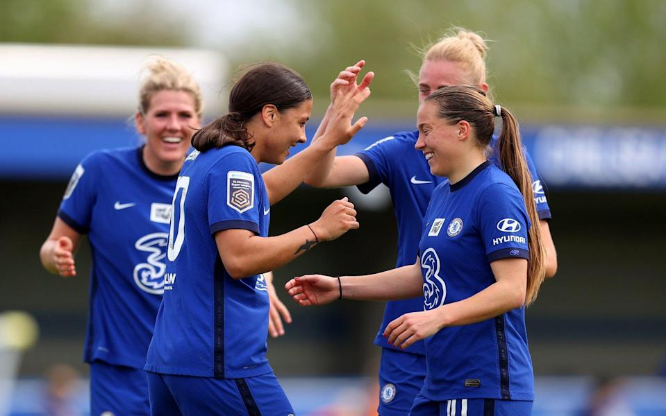 Fran Kirby and Sam Kerr were at their goal-scoring best again - GETTY IMAGES