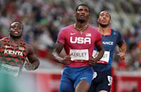 """<p>Biography: 26 years old</p> <p>Event: Men's 100m race</p> <p>Quote: """"I executed the race perfectly out of 10 and came up with a silver medal.""""</p>"""