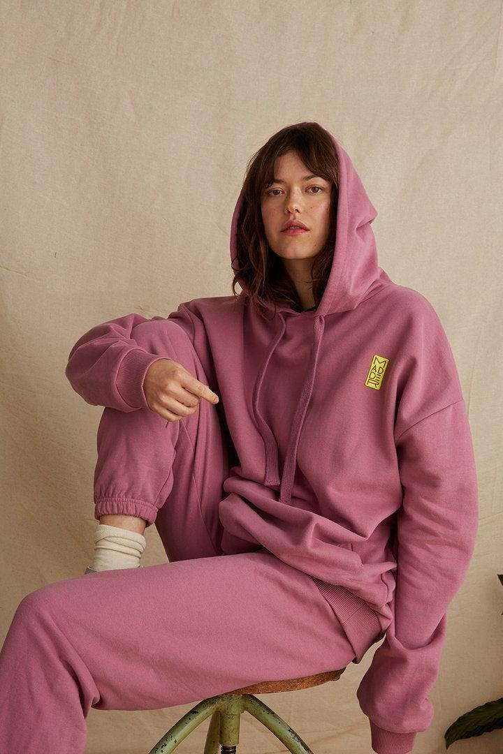 """<br><br><strong>Damson Madder</strong> Joggers in Plum, $, available at <a href=""""https://damsonmadder.com/collections/new-in/products/joggers-in-plum"""" rel=""""nofollow noopener"""" target=""""_blank"""" data-ylk=""""slk:Damson Madder"""" class=""""link rapid-noclick-resp"""">Damson Madder</a>"""