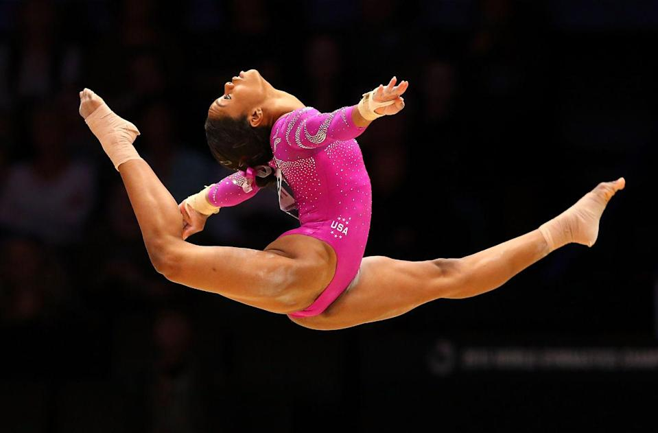"<p><strong>Claim to fame: </strong>Olympic gymnast</p><p><strong>Why she's extraordinary: </strong>At the 2012 London Summer Olympics, now 25-year-old <a href=""https://gabrielledouglas.com/biography"" rel=""nofollow noopener"" target=""_blank"" data-ylk=""slk:Douglas became"" class=""link rapid-noclick-resp"">Douglas became</a> the first woman of color to win the title of Individual All-Around Champion in artistic gymnastics. She's also the first Black woman to earn gold in both the individual all around and team competitions at the Olympic games.</p>"