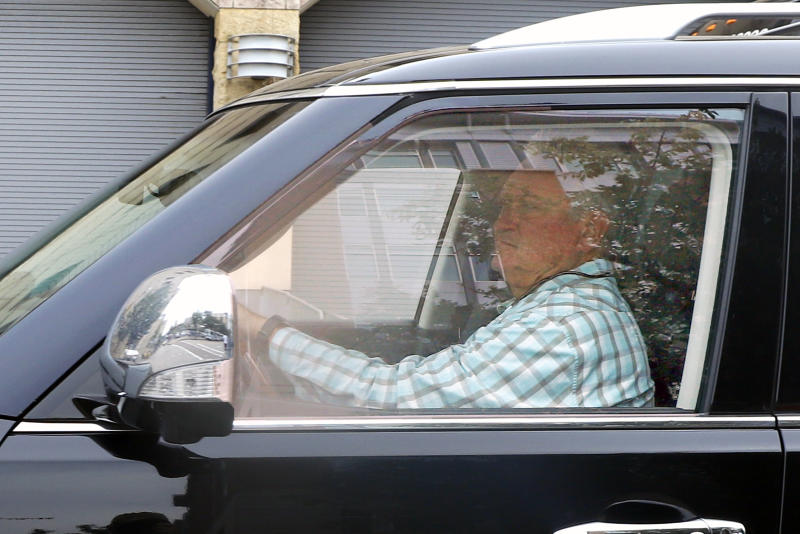 Former Pittsburgh Pirates manager Clint Hurdle drives away from PNC Park after being fired before the final baseball game of the season between the Pirates and the Cincinnati Reds in Pittsburgh, Sunday, Sept. 29, 2019. (AP Photo/Gene J. Puskar)
