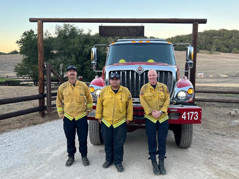 Firefighters at the Reagan Ranch - Credit: Andrew Coffin/YAF