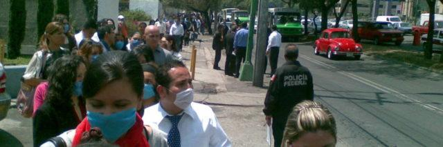 People wearing face masks in Mexico