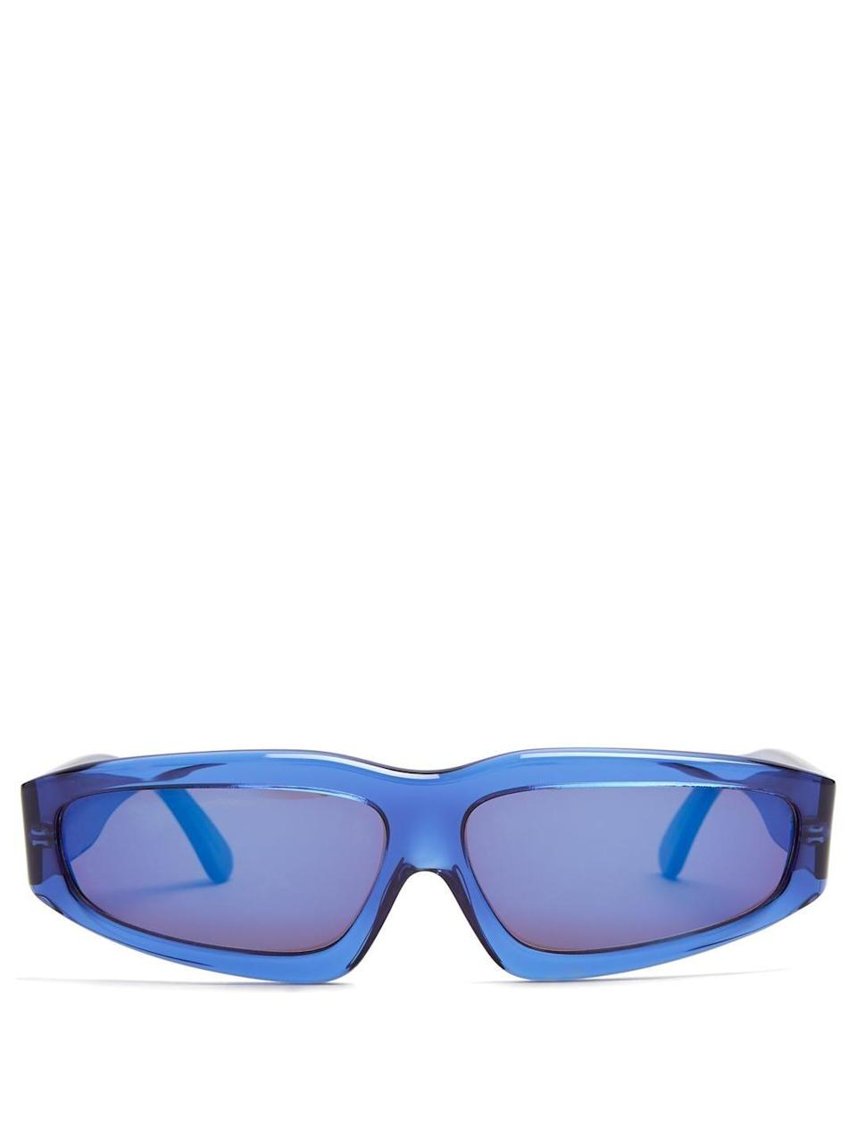 Crafted from transparent blue acetate, these exude a sporty-chic vibe.
