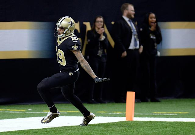 Saints wide receiver Ted Ginn Jr. still thinks he's the fastest player in the NFL. (AP Photo/Bill Feig)
