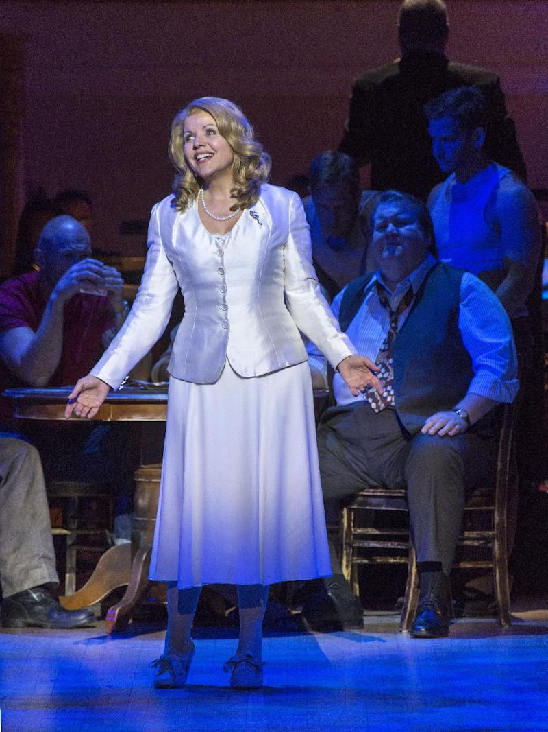"""This March 14, 2013 publicity photo provided by Carnegie Hall shows Renée Fleming, Soprano as Blanche DuBois, in a scene from Andre Previn's, """"A Streetcar Named Desire,"""" in the Stern Auditorium, at Carnegie Hall in New York. (AP Photo/Carnegie Hall, Richard Termine)"""