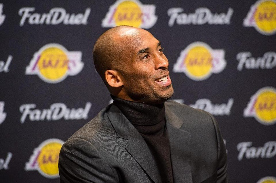 NBA Commissioner Adam Silver credits Los Angeles Lakers star guard Kobe Bryant for his off-court contributions to the game's global growth (AFP Photo/Jason Miller)