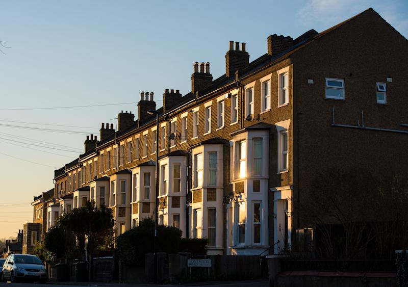 File photo dated 19/1/16 of terraced residential houses in south east London, as a house price freeze set in during January, with property values showing near-zero growth compared with a year ago.