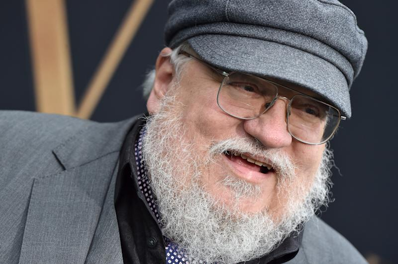 "WESTWOOD, CALIFORNIA - MAY 08: George R. R. Martin attends LA Special Screening of Fox Searchlight Pictures' ""Tolkien"" at Regency Village Theatre on May 08, 2019 in Westwood, California. (Photo by Axelle/Bauer-Griffin/FilmMagic)"