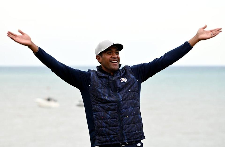 Tony Finau warned Europe's players they will be shown no mercy as the United States targeted a comprehensive Ryder Cup victory at Whistling Straits (Anthony Behar/PA) (PA Wire)