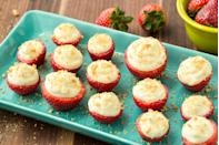 "<p>This fun and fruity dessert is the perfect no-bake treat.</p><p>Get the recipe from <a href=""https://www.delish.com/cooking/recipe-ideas/recipes/a47073/cheesecake-stuffed-strawberries-dessert-recipe/"" rel=""nofollow noopener"" target=""_blank"" data-ylk=""slk:Delish"" class=""link rapid-noclick-resp"">Delish</a>.</p>"