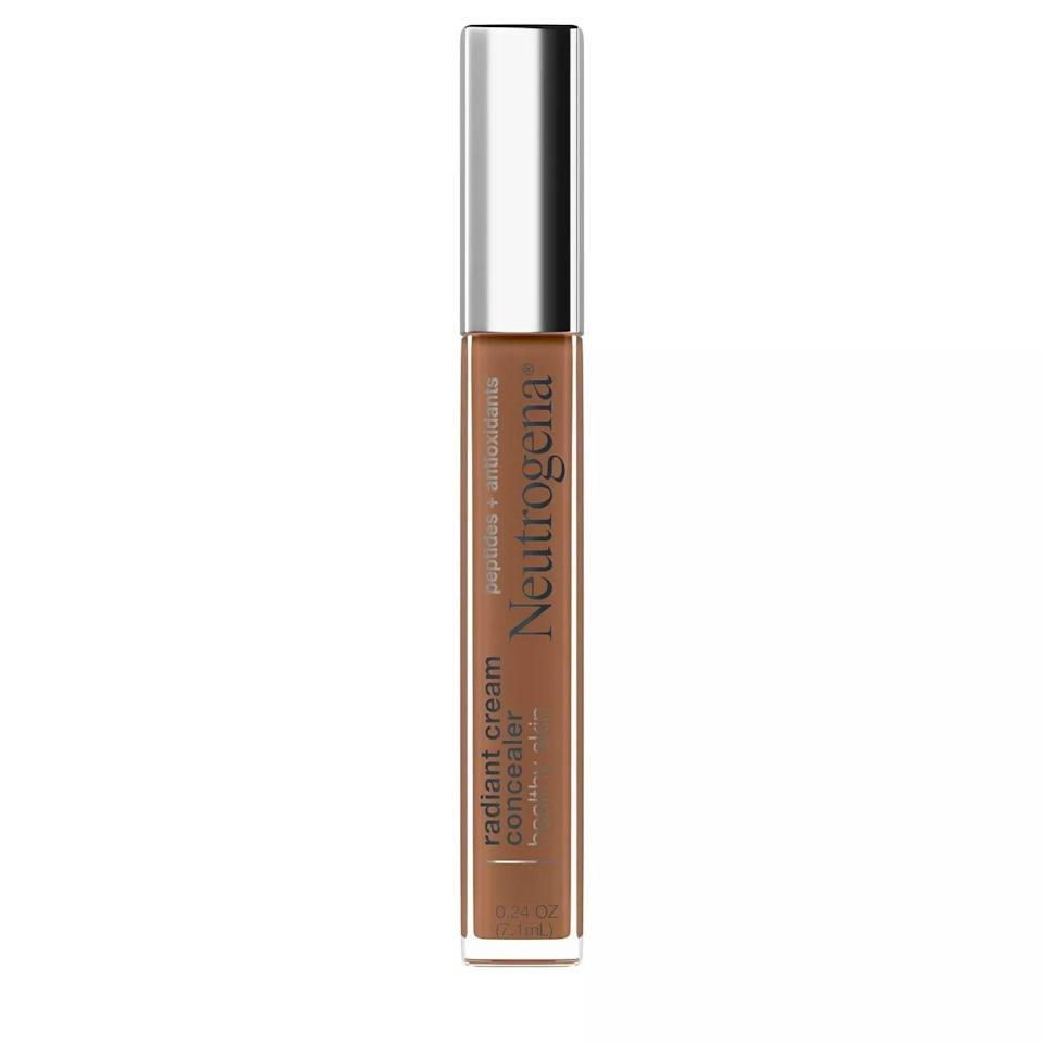 <p>The <span>Neutrogena Healthy Skin Radiant Cream Concealer with Peptides + Antioxidants</span> ($15) is the perfect mix of skin care and makeup! This creamy formula is great for those with dry skin who love a good medium to full coverage look. It gives you a boost of radiance while protecting your skin.</p>