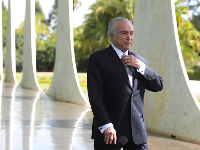 Brazilian President Michel Temer at the Alvorada Palace in Brasilia: AFP/Getty Images