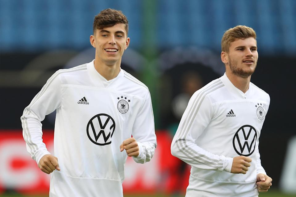Kai Havertz and Timo Werner, both signed by Chelsea, represent Germany's still-thriving talent pool. (Bongarts/Getty Images)