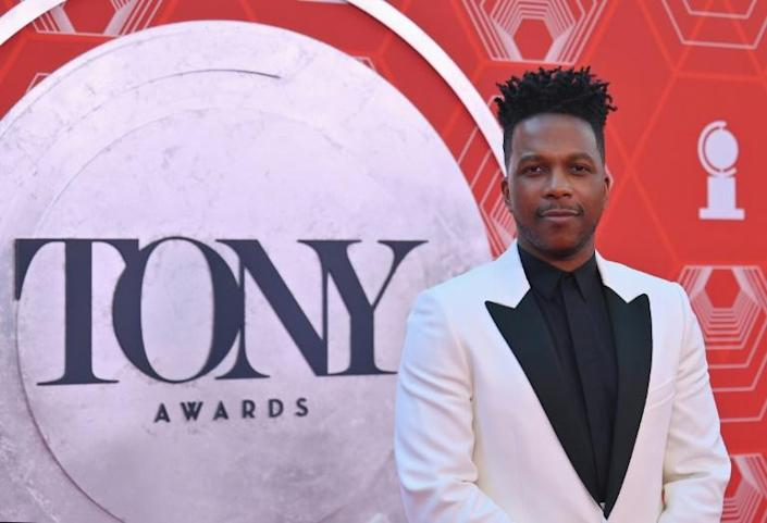 US actor Leslie Odom Jr hosted the Tony Awards concert gala (AFP/Angela Weiss)