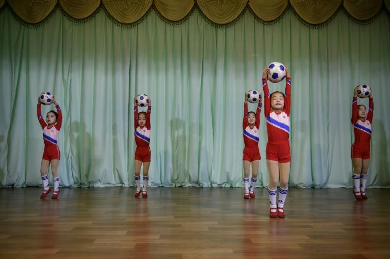 Out of 750 children at the Sinuiju kindergarten, 39 were chosen to take part in this year's Mass Games