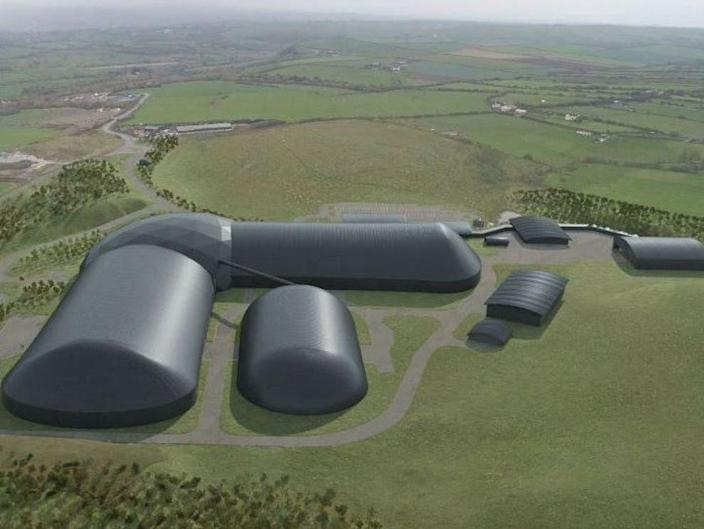 Artist's impression of the new Woodhouse Colliery near Whitehaven (West Cumbria Mining)