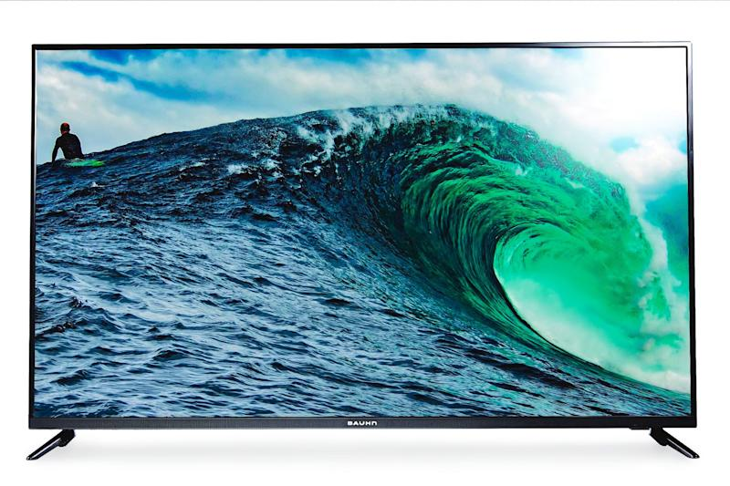 The 50-inch flatscreen TV on sale at Aldi from Saturday. <i>(Source: Supplied)</i>