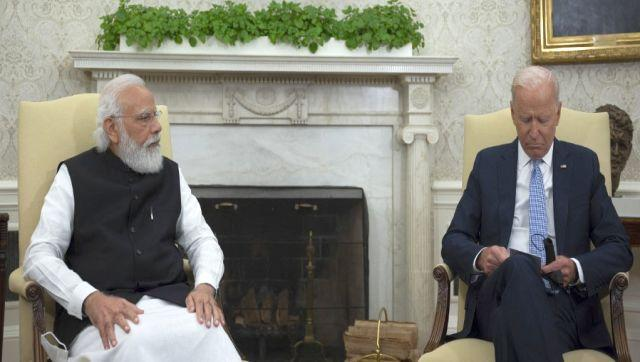 """Modi also reiterated the importance of technology in the world and said that """"we have to utilise our talents to leverage technology for the greater global good"""". Modi also took the opportunity to praise Biden on steps taken by him regarding climate change and Quad. """"We have the opportunity to discuss all these issues in detail today. We can take positive action. After assuming change you have taken very unique initiatives on climate change, COVID-19 pandemic and Quad. AFP"""