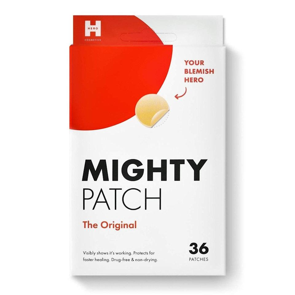 """Pimple patches are one of the most convenient ways to target a lingering zit: The hydrocolloid helps draw clogs out of the pimple, while salicylic acid exfoliates dead skin to prevent new ones from forming. The Mighty Patch in particular has shown us some pretty impressive results, <a href=""""https://www.tiktok.com/@aleyabrooke/video/6895567705873616133?sender_device=pc&sender_web_id=7000412998909216262&is_from_webapp=v1&is_copy_url=0"""" rel=""""nofollow noopener"""" target=""""_blank"""" data-ylk=""""slk:especially on TikTok"""" class=""""link rapid-noclick-resp"""">especially on TikTok</a>. $13, Amazon. <a href=""""https://www.amazon.com/Mighty-Patch-Hydrocolloid-Absorbing-count/dp/B074PVTPBW"""" rel=""""nofollow noopener"""" target=""""_blank"""" data-ylk=""""slk:Get it now!"""" class=""""link rapid-noclick-resp"""">Get it now!</a>"""