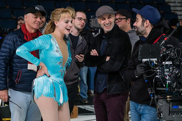 Margot Robbie and <i>I, Tonya</i> director Craig Gillespie. (Photo: 30West)